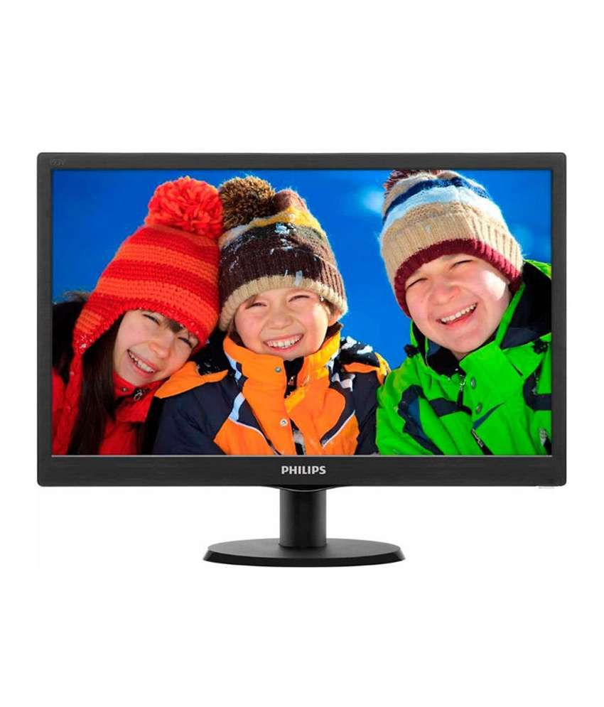 Philips 39.62 cm (15.6) Lcd Monitor With Led Backlight (Black)