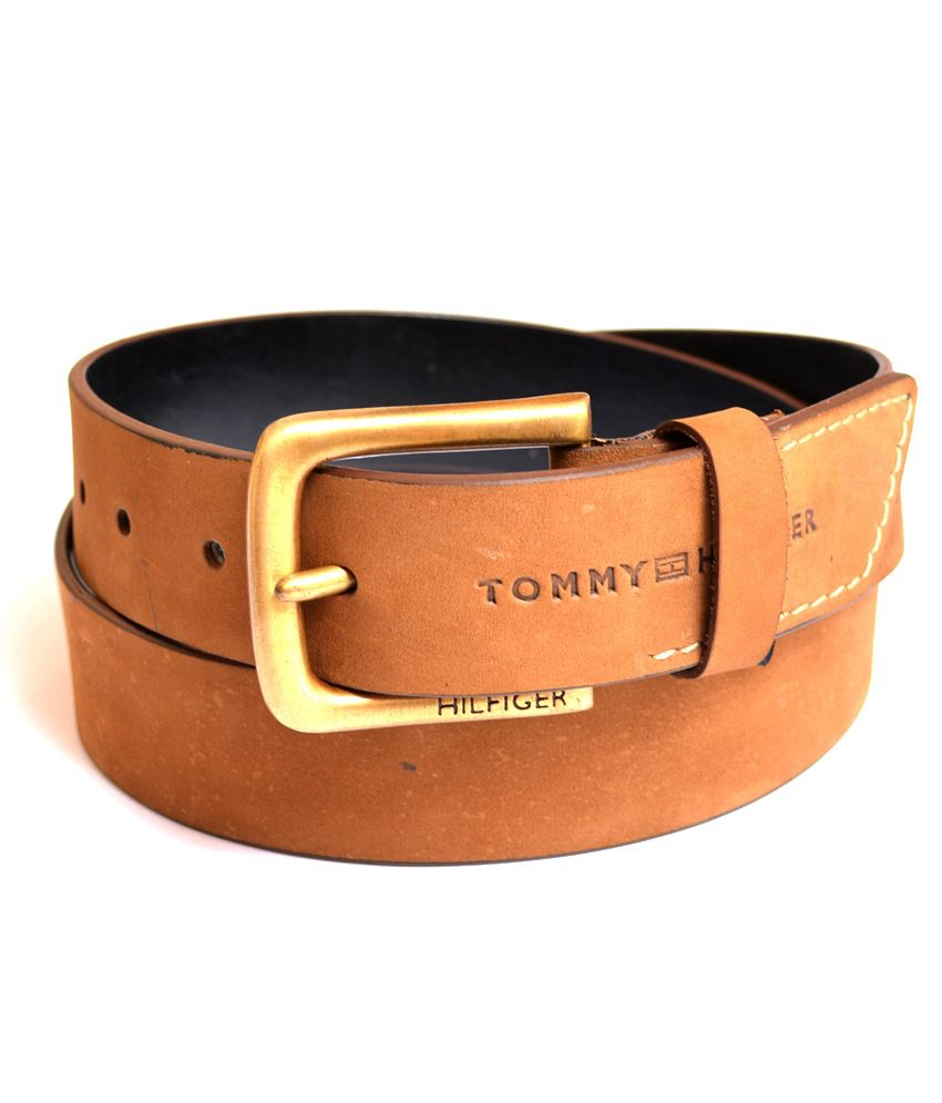 Tommy Hilfiger Tan Men's Genuine Quality Leather Belt