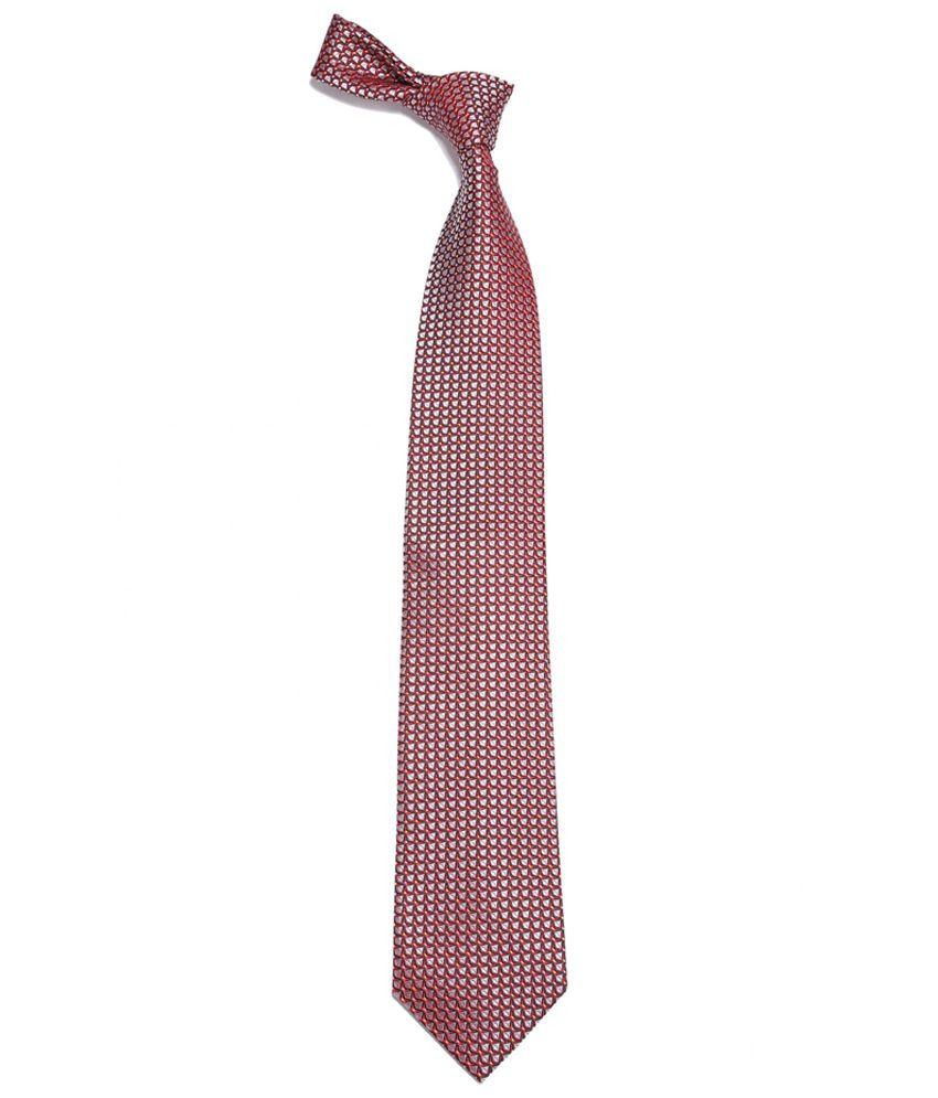 Louis Philippte Brown Silk Charming Formal Necktie
