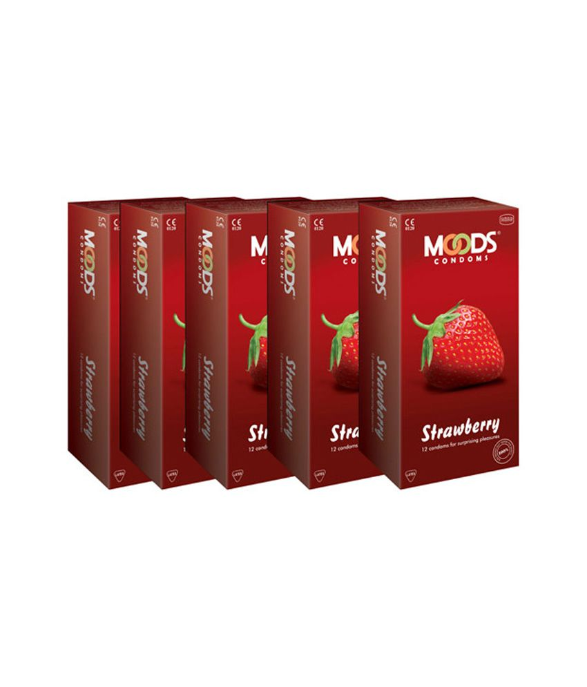 Moods Strawberry Condoms Combo Of