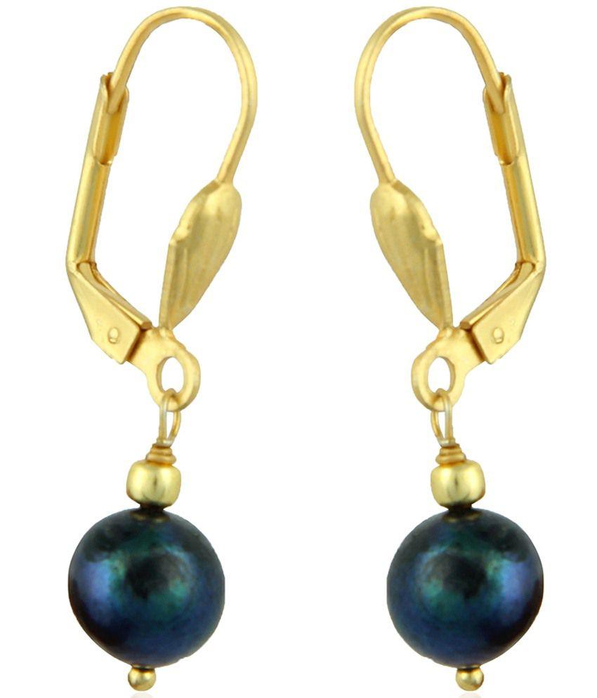 Pearlz Ocean Blue & White Freshwater Pearl Drop Earrings