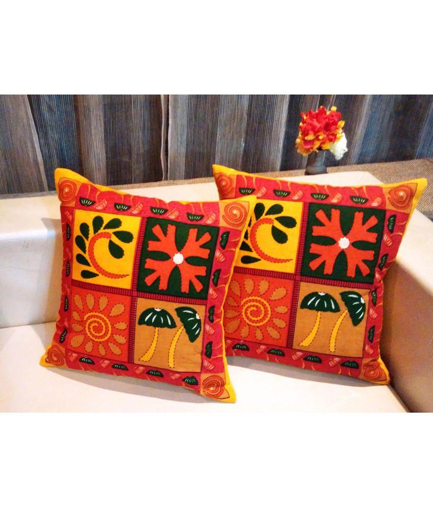 Urban Arts Ethnic Jaipuri Printed Cushion Cover - Set Of 5 Pcs