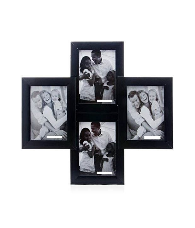 Wens Black Wooden Photo Frame (For 4 Pictures)