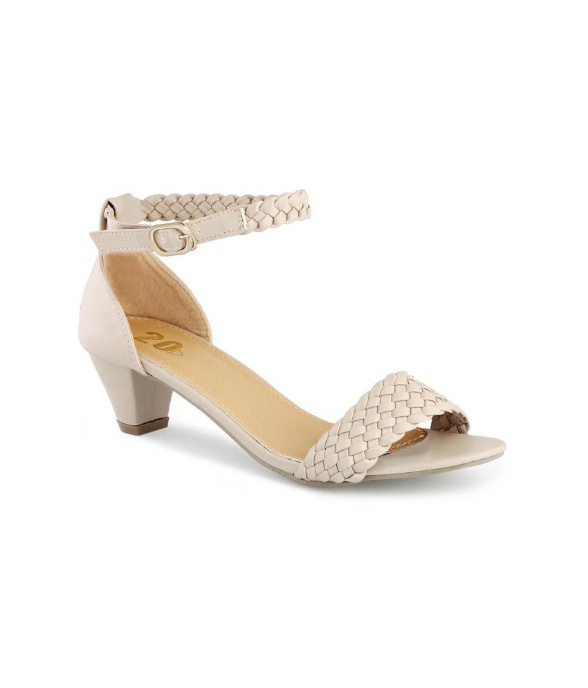 6824cbfea59d 20d Nude Weave A Love Story Kitten Heels For Women Price in India- Buy 20d  Nude Weave A Love Story Kitten Heels For Women Online at Snapdeal
