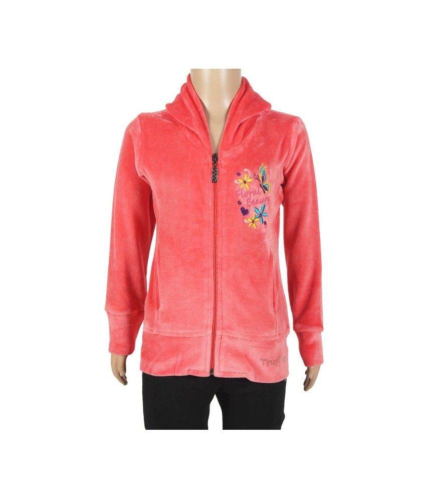 PURPLE NASTY Full Sleeve Red Color Sweatshirt For Kids