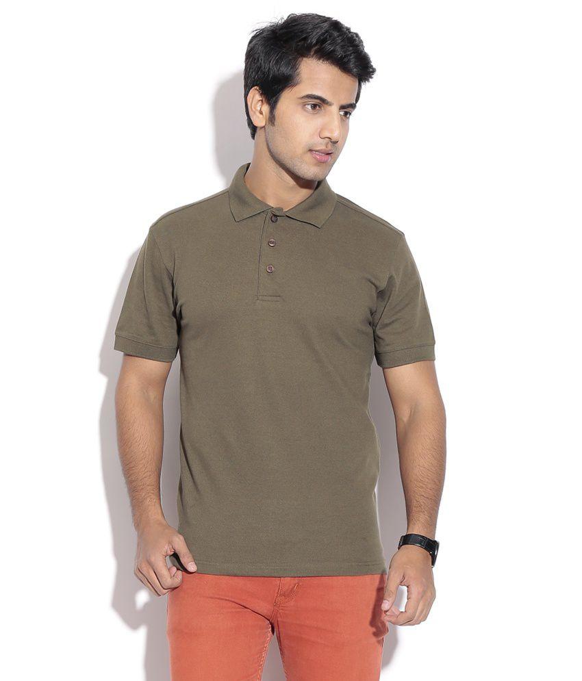 Wilkins & Tuscany 10159 Stylish Green Men T Shirt