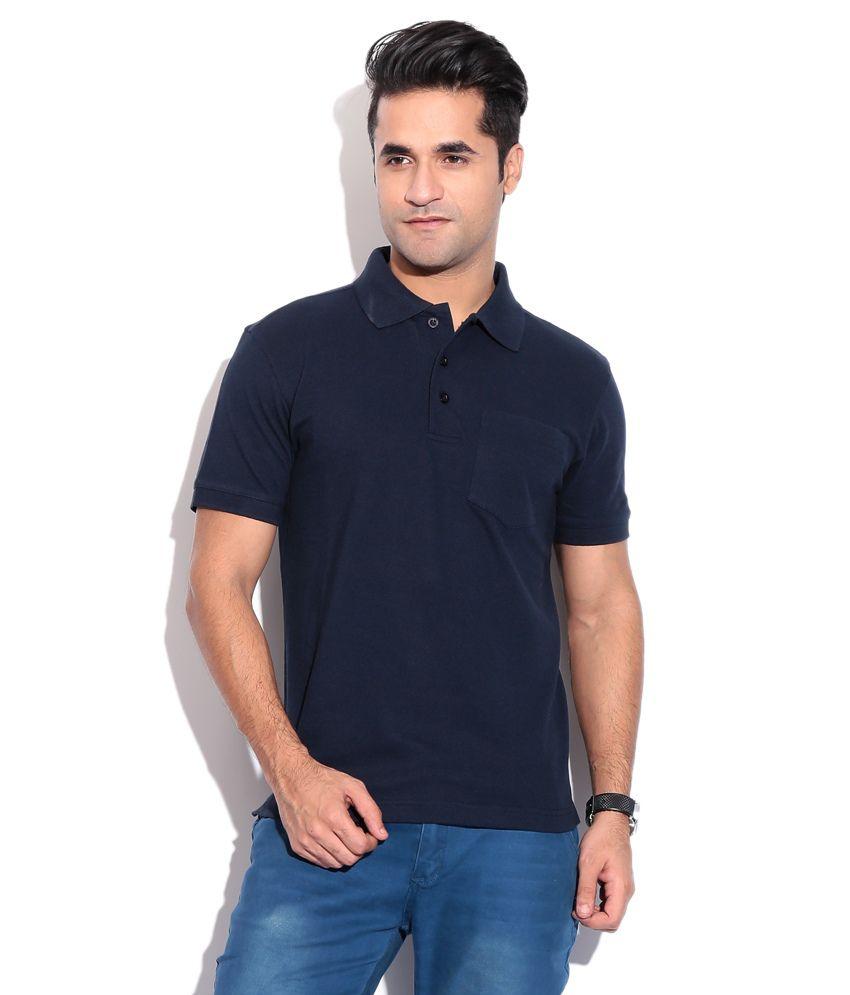 Wilkins & Tuscany 10259 Stylish Navy Blue Men T Shirt