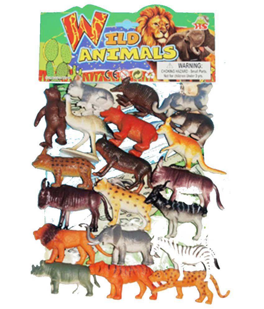 Goldleaf Wild Animal Plastic Toys For Kids 20 Pcs Pak