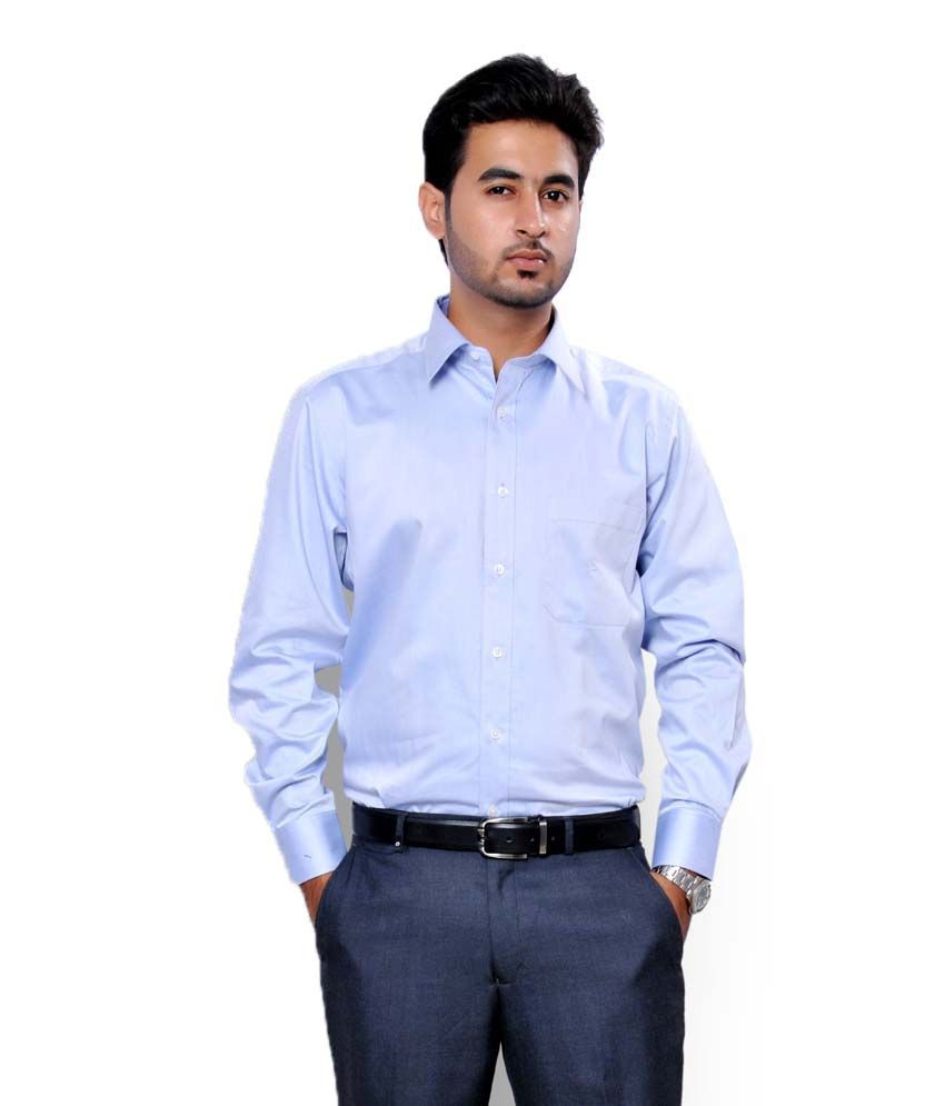 men sky blue formal shirt buy