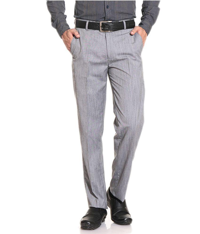 E Atavios Poly Viscose Comfort Flat Gray Formals