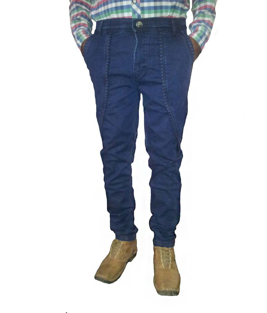 Epic Dark Blue Narrow Fit Jeans For Men