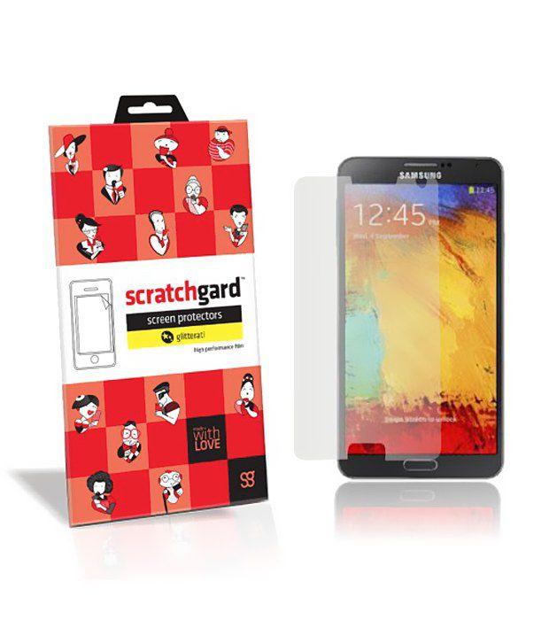 Scratchgard Silver Glitterati Screen Protector For Samsung Galaxy Note 3 N9000