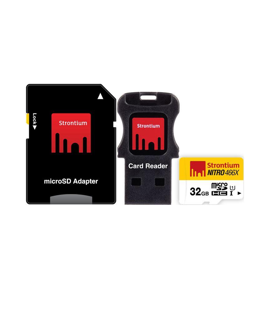 Strontium 32GB Nitro Micro SD Card 70MB/S (3in1)