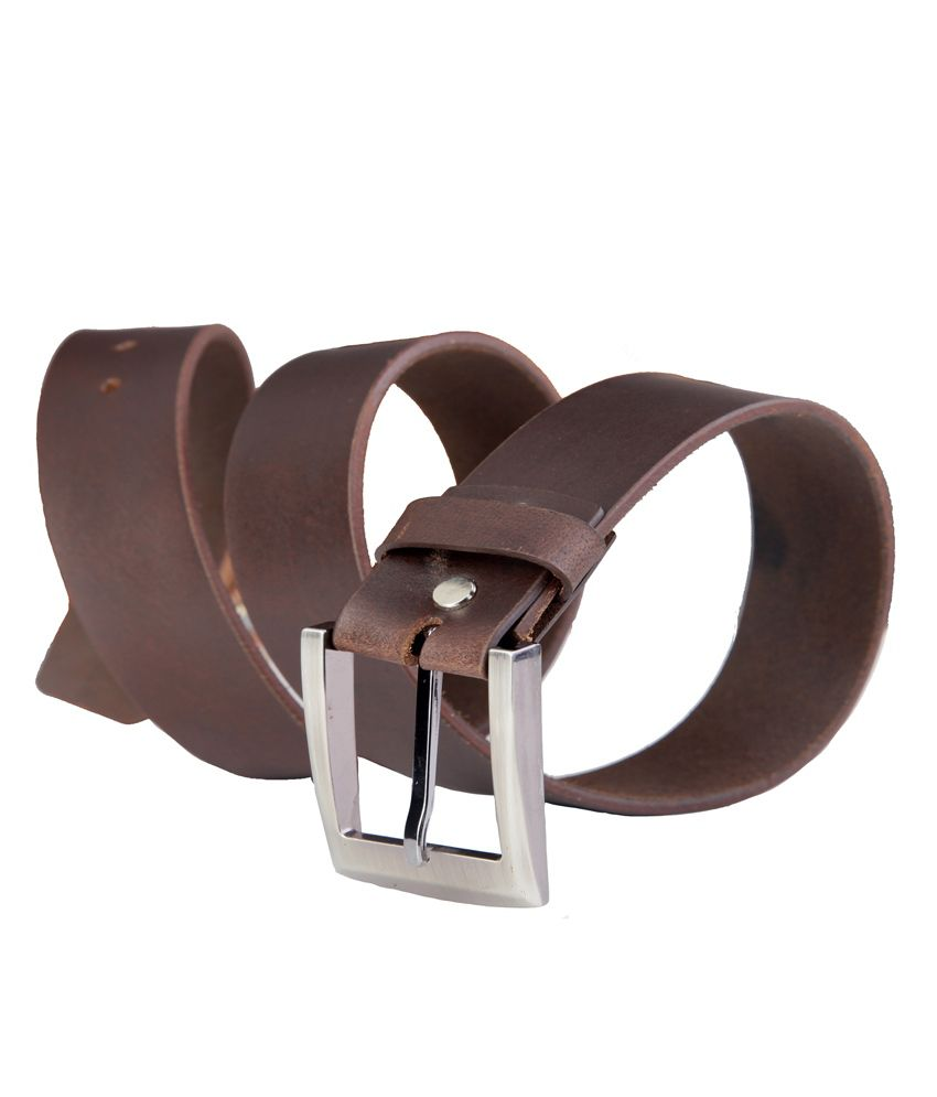 99cells Brown Casual Single  Belt  ForMen