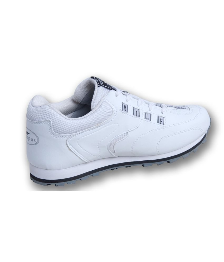 Campus Mile White Sport Shoes - Buy