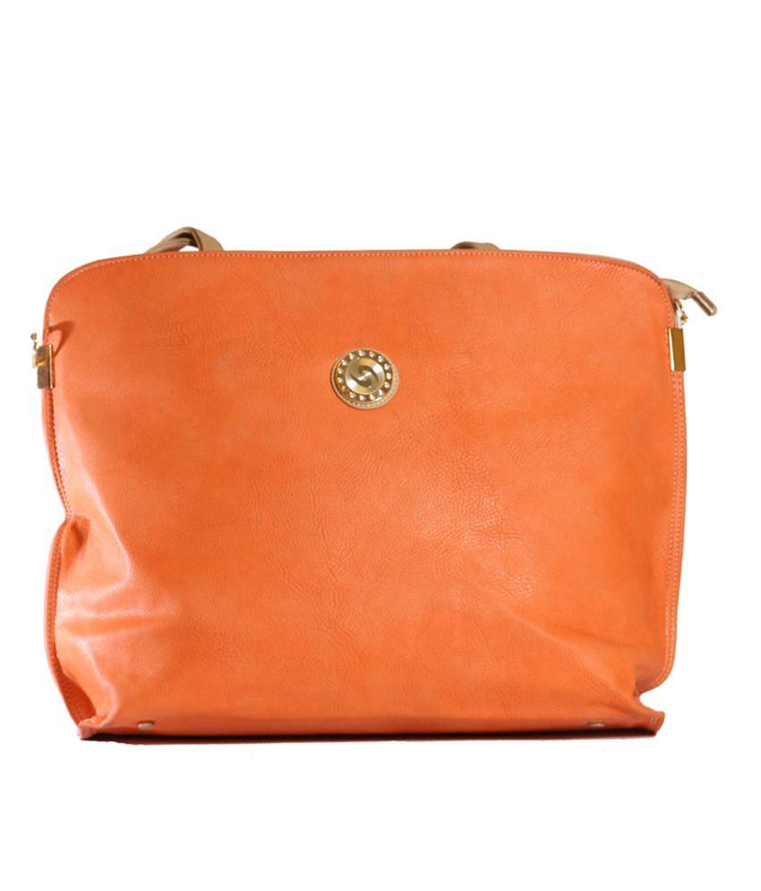 Indraprastha Orange Stylish Shoulder Bag