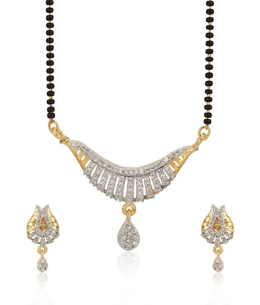 Jewels Galaxy Intricately Crafted Ad Mangalsutra Set