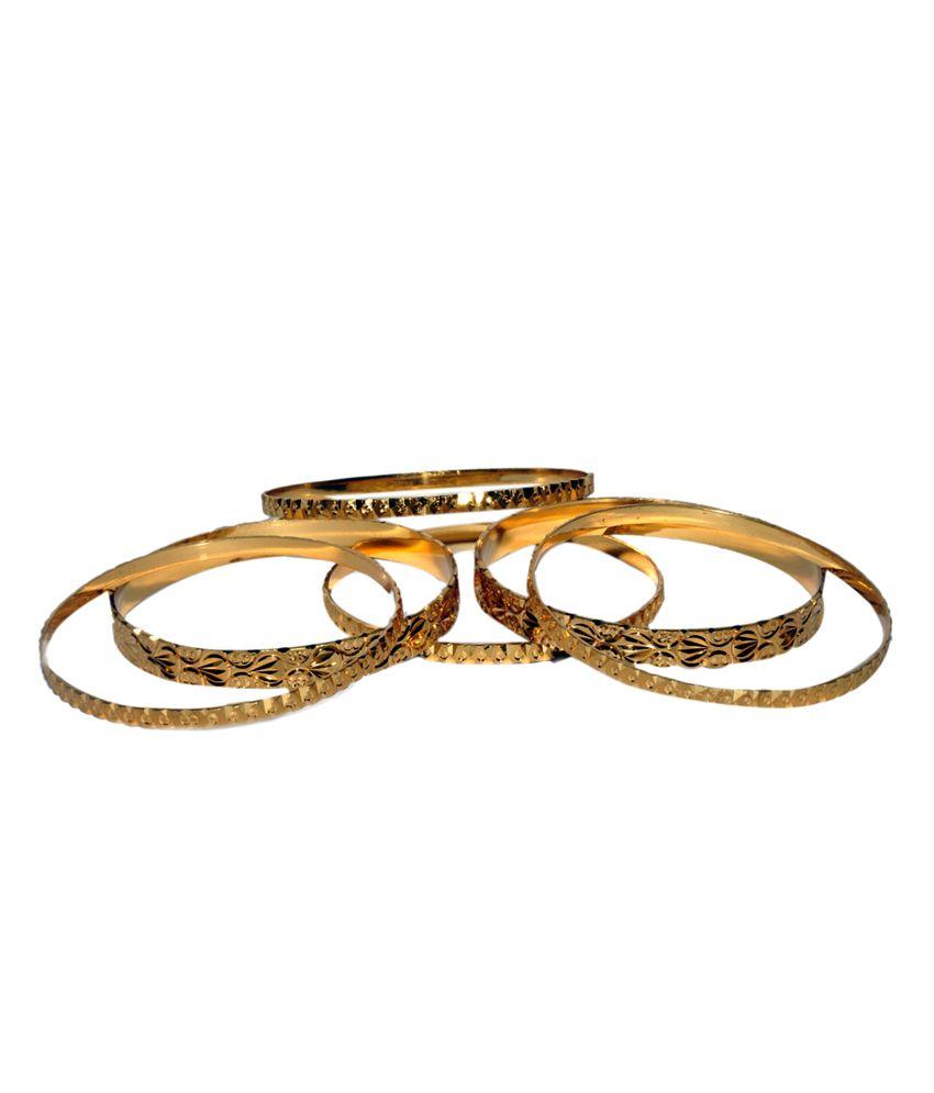 ELLIS  Gold Plated 6 Pieces Bangels