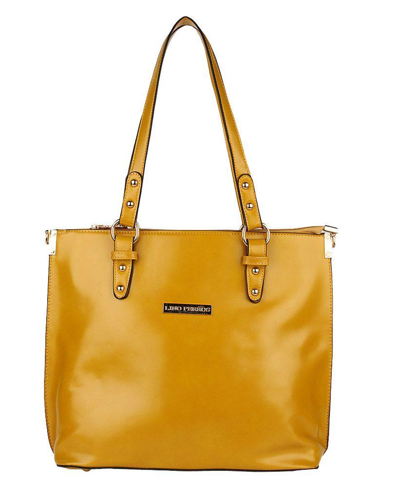 Lino Perros 8903421239788 Yellow Tote Bags