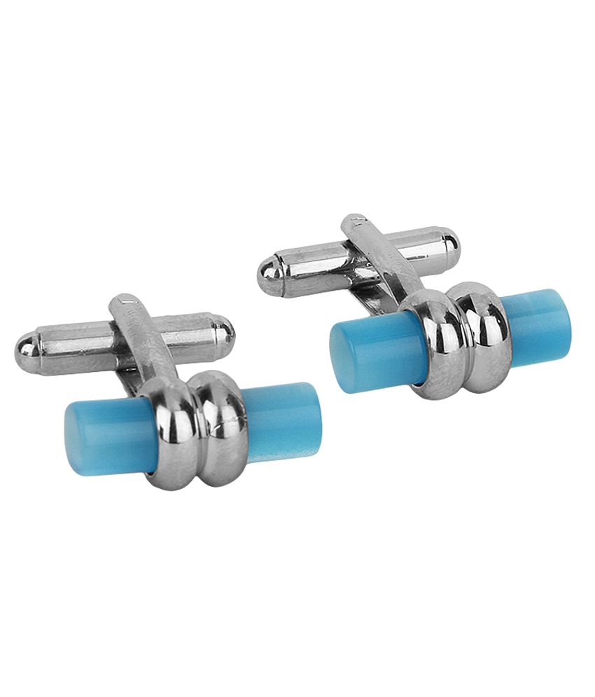 Lino Perros Turquoise Metal Stone Cufflinks