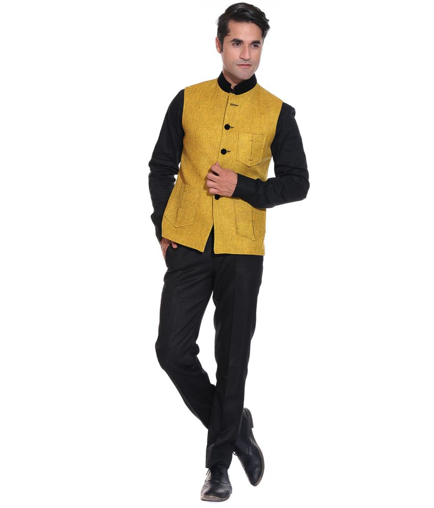 Yellow Semi-formal Nehru Jackets