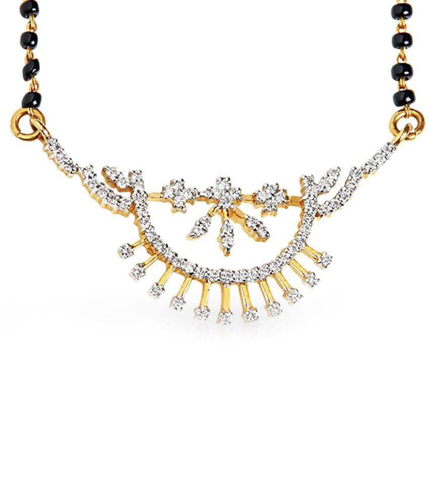 Jacknjewel 18kt Gold Contemporary Amirah Diamond Mangalsutra With Chain