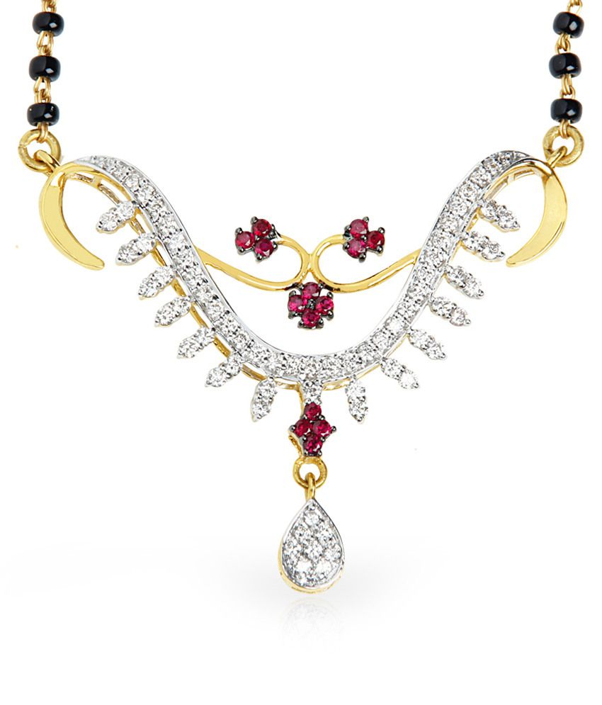 Jacknjewel 18kt Gold Contemporary Pushyami Mangalsutra With Chain