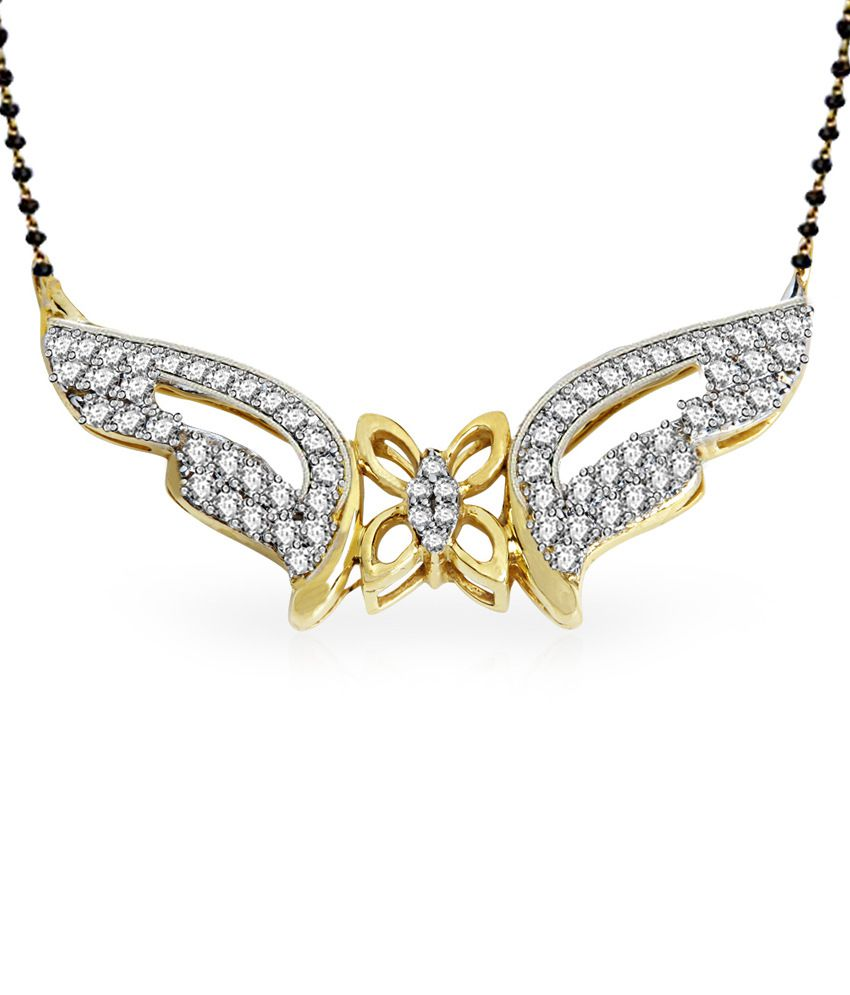 Jacknjewel 18kt Gold Contemporary Suryakantam Mangalsutra With Chain