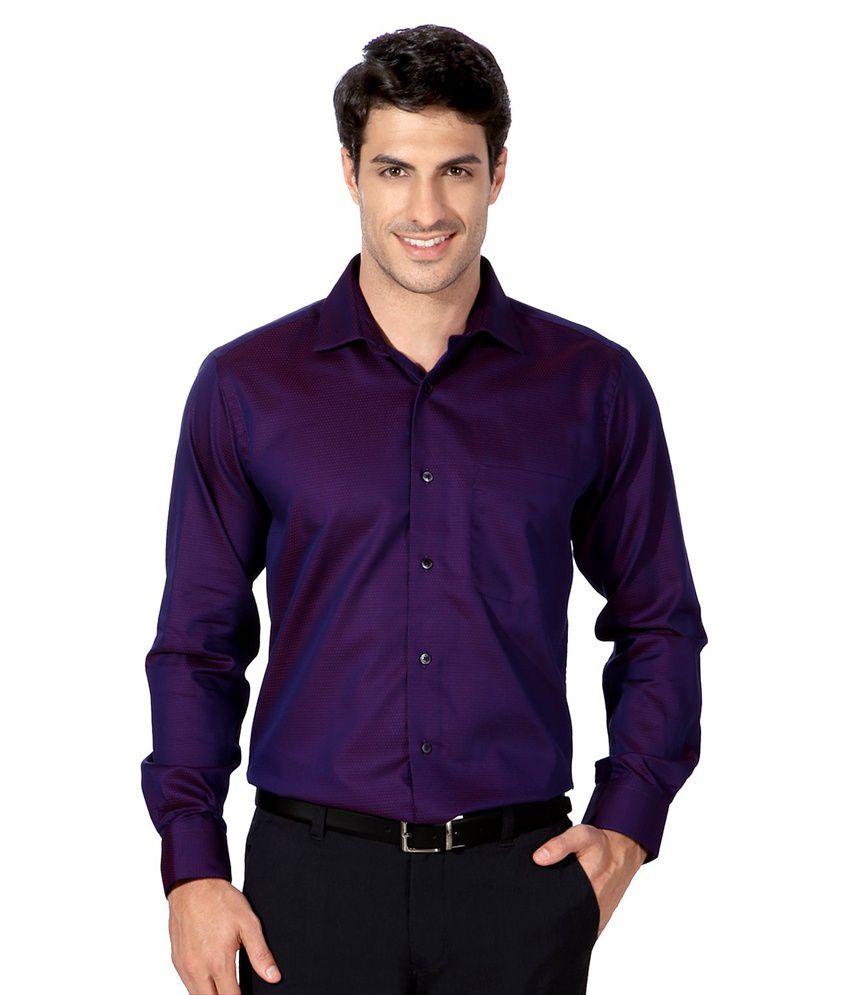 b6e45564 Van Heusen Purple Partywear Shirt