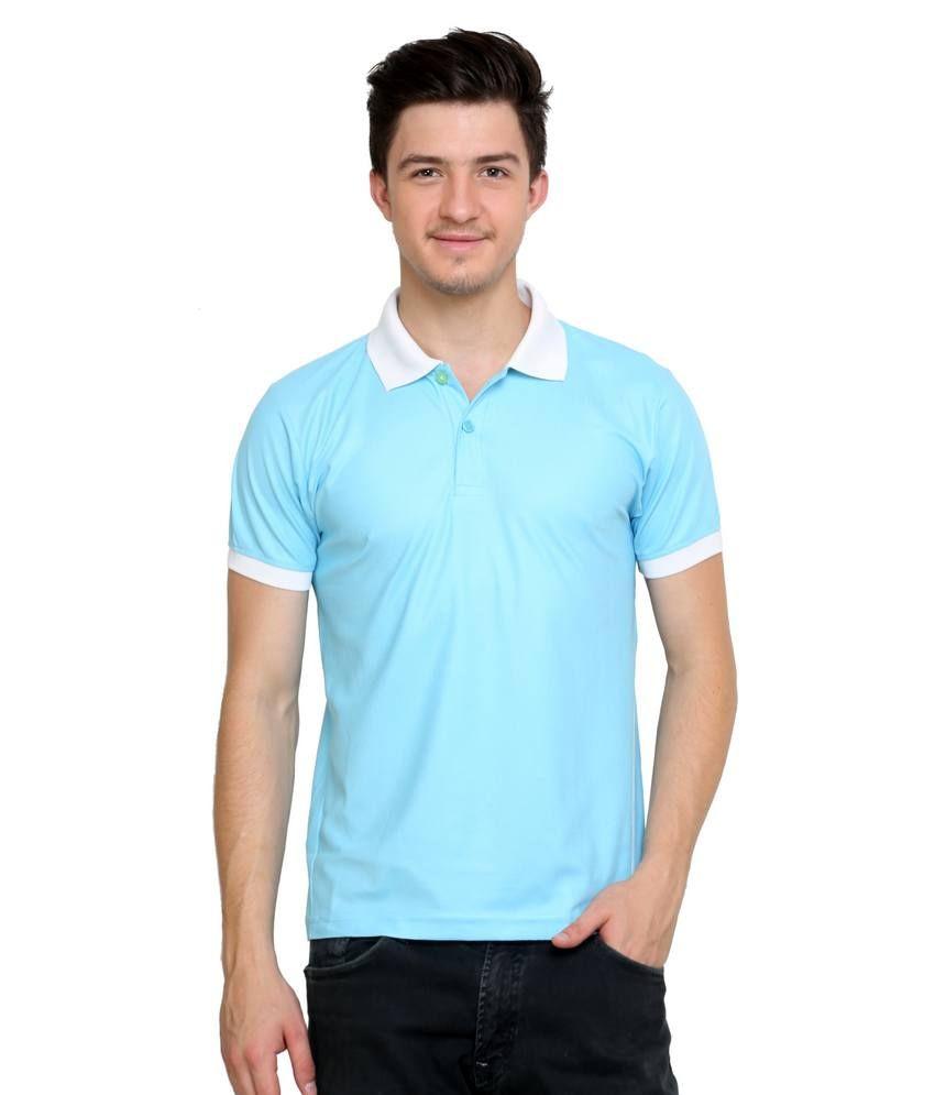 Dida  Sky Polyester Half Sleeves Polo T-shirt