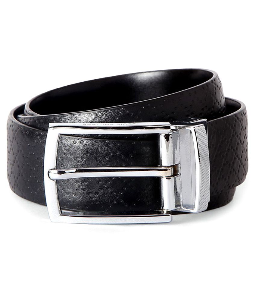 Louis Philippe Black Formal Single Belt For Men