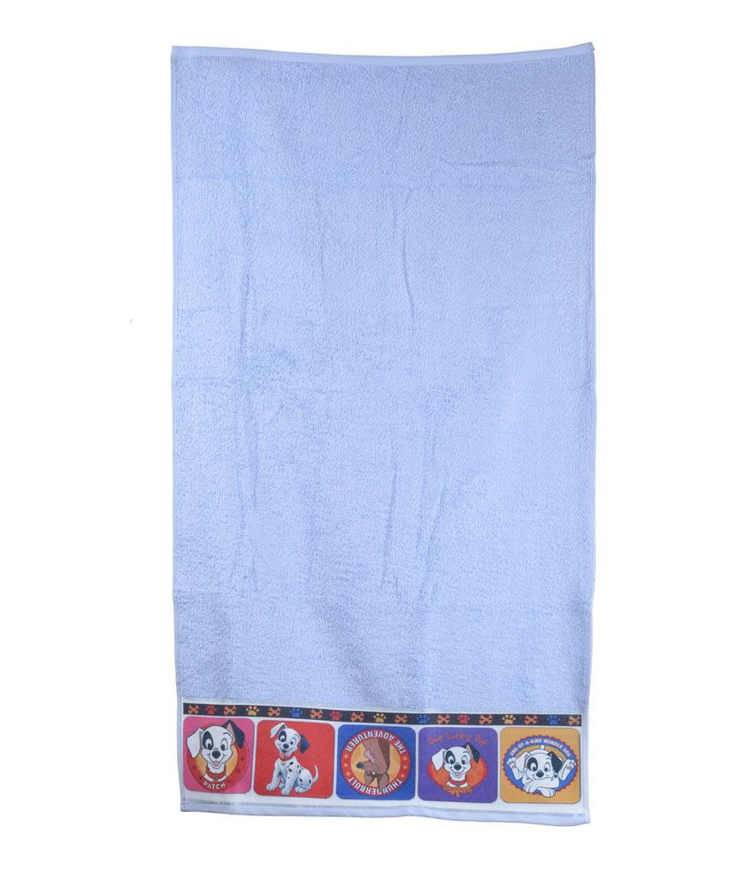 Disney Sassoon Blue Cotton Bath Towel