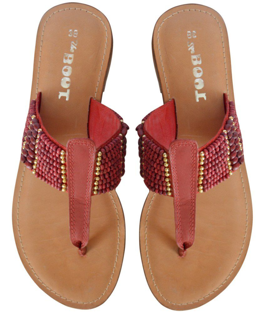bc7627085e4e2 Suri Leather Fancy Women Leather Red Sandals Price in India- Buy ...