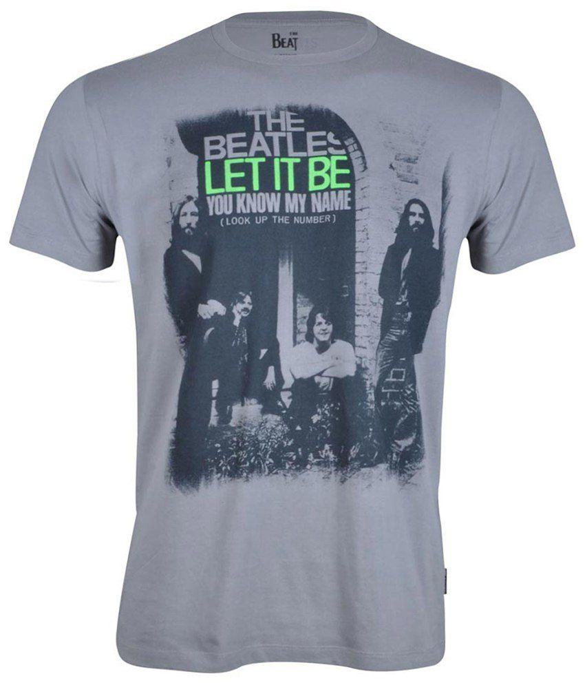 Beatles Gray Cotton T-shirt