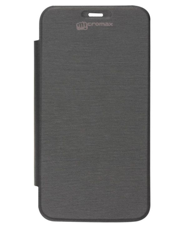 cheap for discount 3e977 c26b5 Copper Flipcover For Micromax Bolt A24 - Black - Flip Covers Online ...