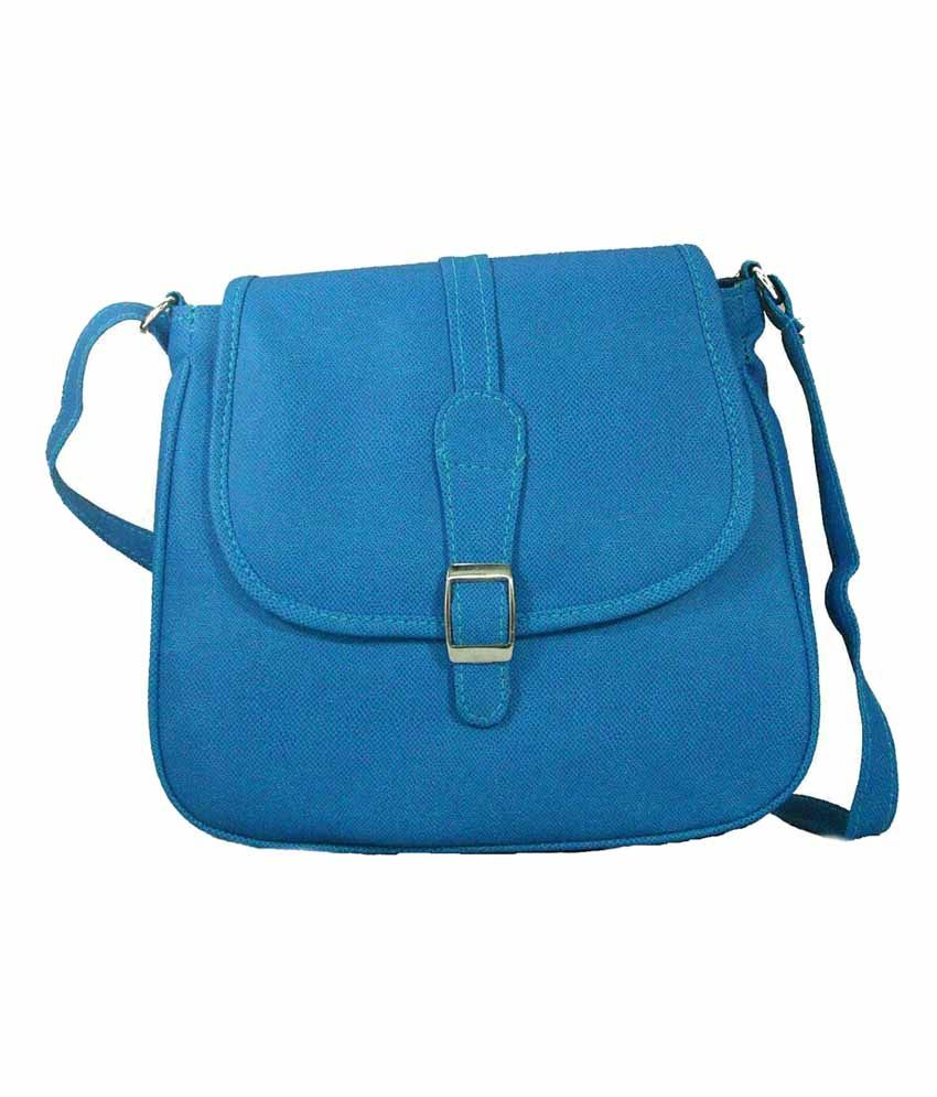 Estoss Blue Designer Sling Bag - Buy Estoss Blue Designer Sling ...