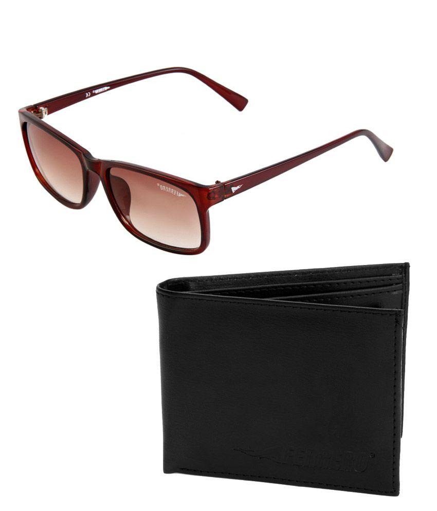 Ferrero F-5021-C&FA-101 Brown/Brown Wayfarer Sunglasses