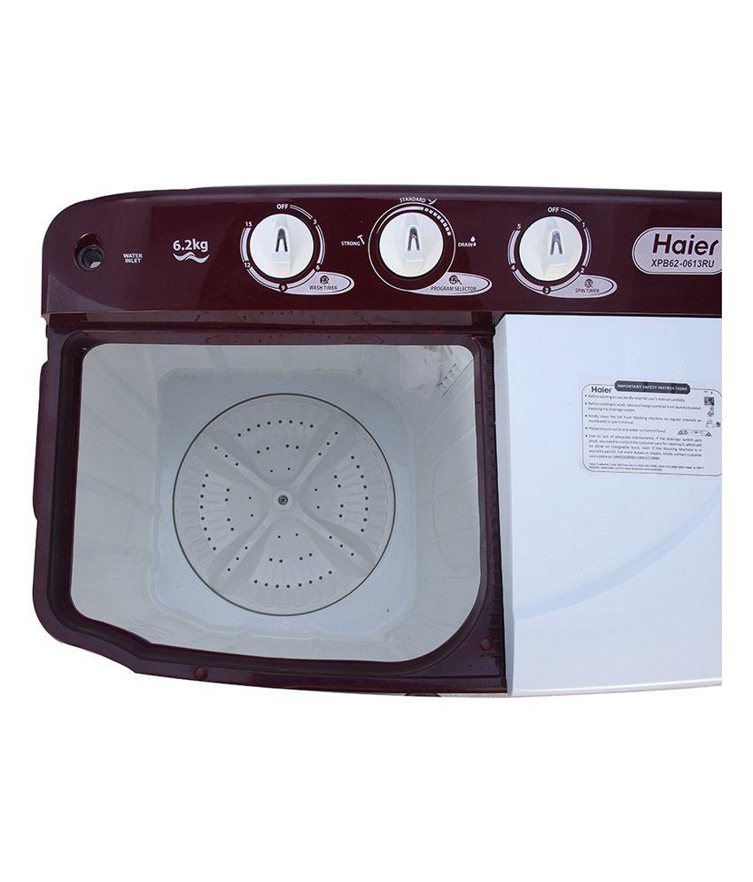 Haier 62 Kg Xpb 0613ru Semi Automatic Top Load Washing Machine Wiring Diagram Ruby Red