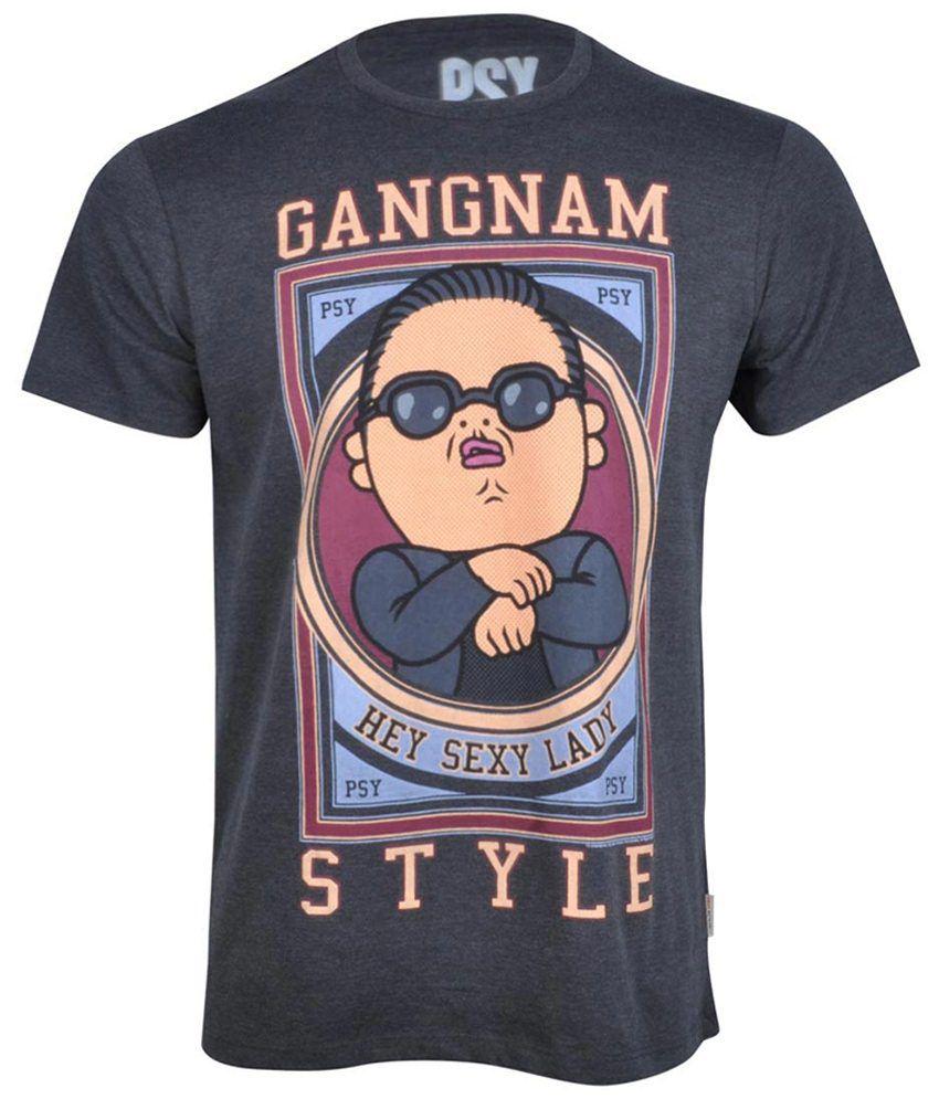 Psy Black Cotton T-shirt