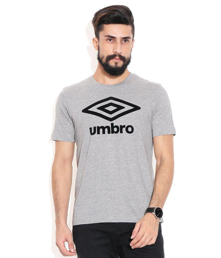 Umbro Gray Cotton T-shirt