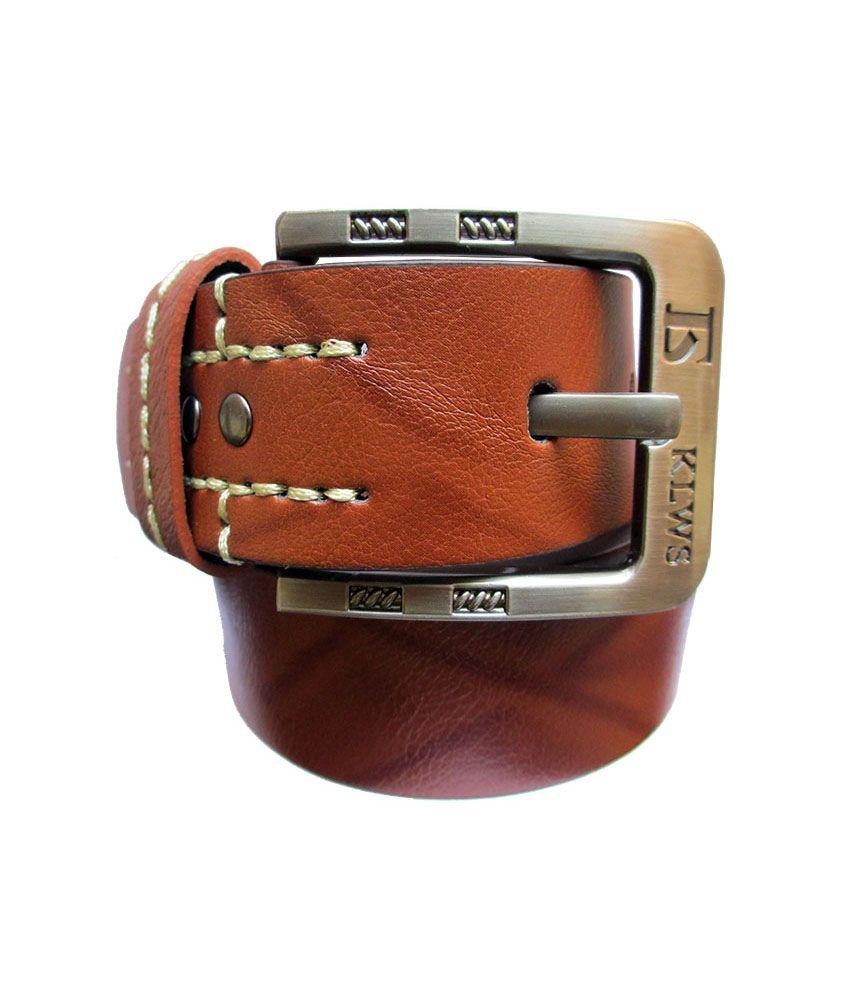 Urfashion Textured And Stylish Brown Belt