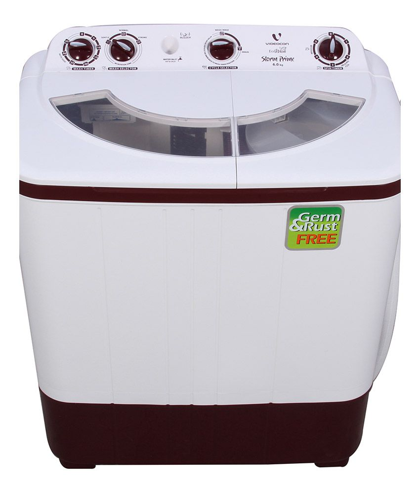 Videocon 6 Kg VS60A12 Semi Automatic Top Load Washing Machine White