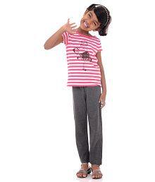Bio Kid Multi Color Cotton Nightsuit - Set Of 2 Pcs