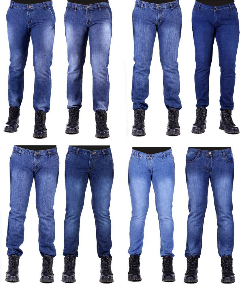 Ansh Fashion Wear Combo Of 8 Streachable Denim Jeans