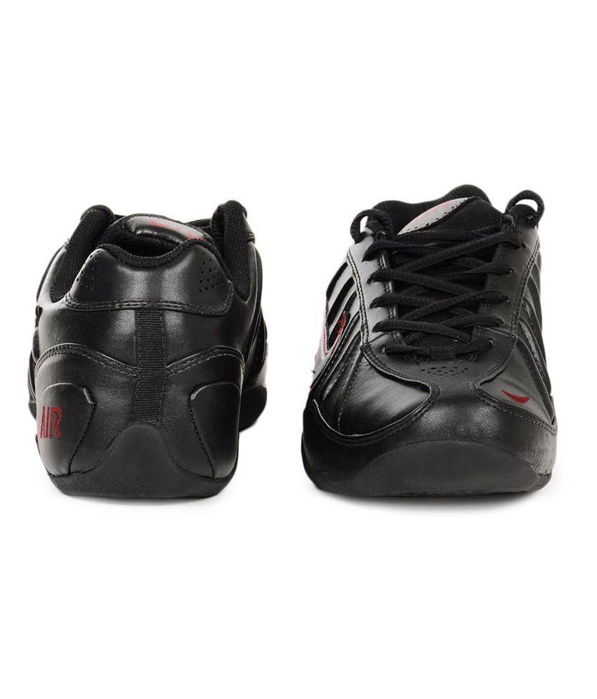 c6d2636e0e01 Nike Black Synthetic Leather Sport Shoes - Buy Nike Black Synthetic ...