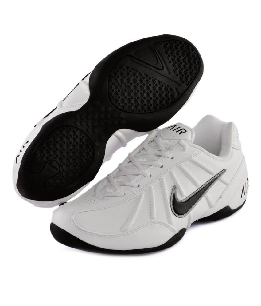 Nike White Synthetic Leather Sport Shoes Nike White Synthetic Leather Sport  Shoes ...