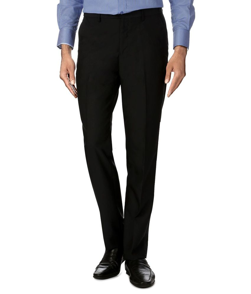 Peter England Black Slim Formals