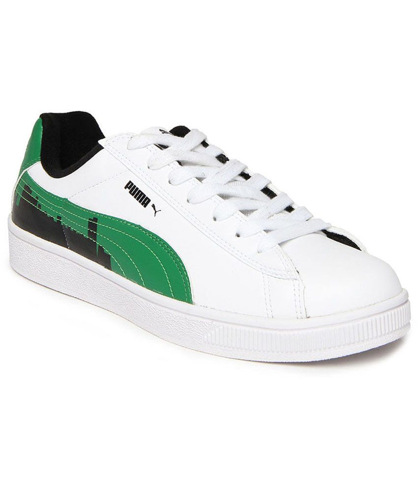 b46c2d2f6fc Puma Basket City Ind Men s Sneakers - White And Green Colour - 35651301 -  Buy Puma Basket City Ind Men s Sneakers - White And Green Colour - 35651301  Online ...