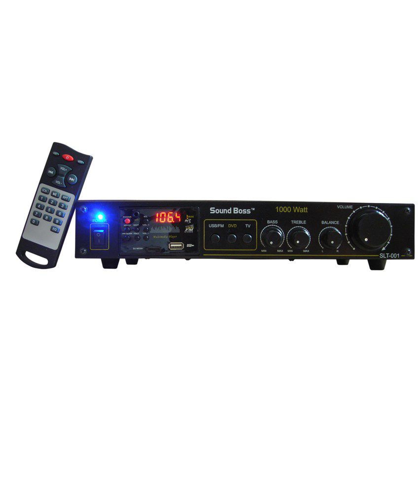 Buy Soundboss 2 Speaker Amplifier With Fm Receiverusb Mmcaux 5 Watt