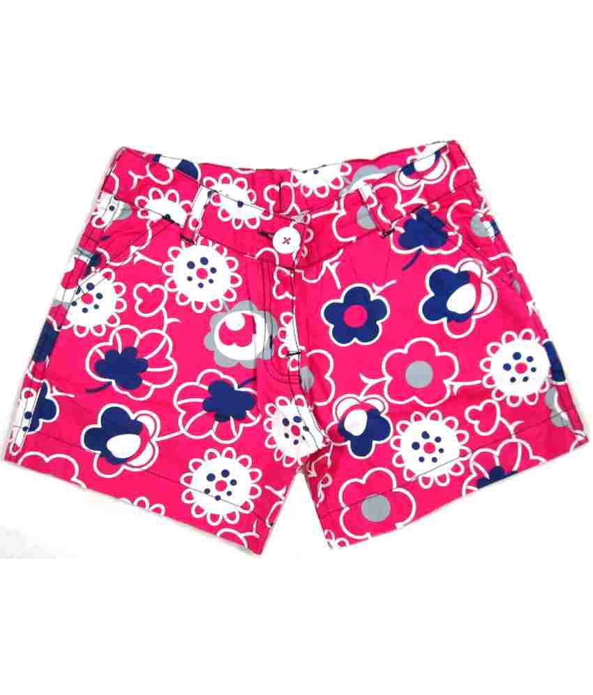 Catapult Girl's Pink Printed Shorts